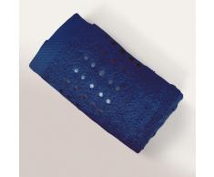 Serviette de toilette 50x100 cm 100% coton 550 g/m2 PURE POINTS Bleu Marine