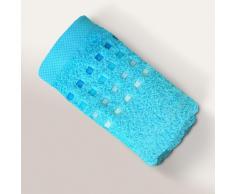 Serviette invité 33x50 cm 100% coton 550 g/m2 PURE PRIMAVERA Bleu Océan