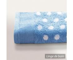Serviette de toilette 50X100 cm DOMINO Bleu 550 g/m2