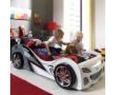 NOUVOMEUBLE Lit voiture blanche pour enfant BRADY