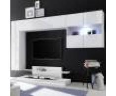 NOUVOMEUBLE Meuble TV mural design blanc laqué PICERNO