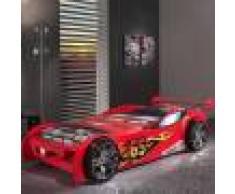 NOUVOMEUBLE Lit voiture de course rouge RACING