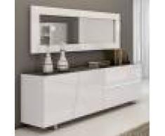 NOUVOMEUBLE Enfilade design laqué blanc 200 cm LAUREA, 3 portes - 1 tiroir