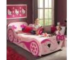 NOUVOMEUBLE Lit voiture enfant rose LOVELY