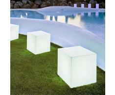 CUBY-Lampe d'extérieur cube lumineux H43cm Blanc New Garden