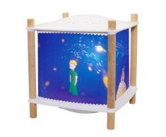 LANTERNE 2.0 PETIT PRINCE-Veilleuse Lanterne LED Connectée avec projection d'étoiles H18.5cm Bleu Trousselier