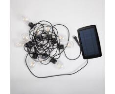 ALLEGRA-Guirlande lumineuse solaire & rechargeable d'extérieur 10 lumières LED Noir New Garden