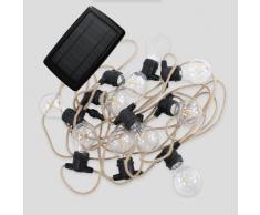 ALLEGRA-Guirlande lumineuse solaire & rechargeable d'extérieur 10 lumières LED Jute New Garden