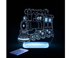 TRAIN-Lampe-veilleuse LED H17cm Transparent Aloka