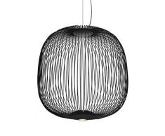 SPOKES 2-Suspension LED Fils de Fer H52,5cm Noir Foscarini - designé par Garcia Cumini