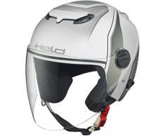 Held Top Spot Decor casque jet, blanc-argent, taille L