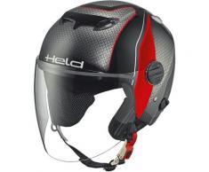 Held Top Spot Decor casque jet, noir-gris-rouge, taille L