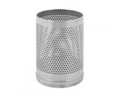 Corbeille à papier ronde perforée capacité 10 l, h x Ø 290 x 220 mm