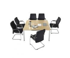 Table de conférence carrée h x l x p 720 x 1400 x 1400 mm