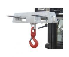 Crochet porte-charge pour 2 fourches charge max. 1500 kg | EUROKRAFTpro