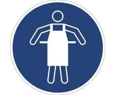 Panneaux indiquant les mesures de sécurité obligatoires tablier de protection obligatoire, lot de 10