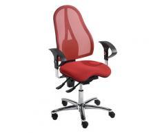 Chaise de bureau pivotante, contact permanent et assise Orthositz® avec Body Balance Tec®, dossier résille | Topstar