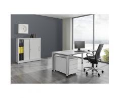 Bureau complet ARCOS bureau, armoire à portes coulissantes, caisson roulant à 3 tiroirs | mauser