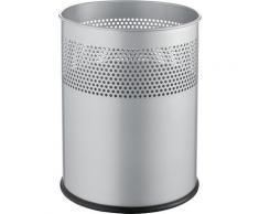 Corbeille à papier métallique capacité 15 l, h x Ø 315 x 260 mm | helit