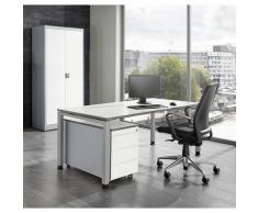 Bureau complet ARCOS bureau, armoire à porte battante, caisson roulant à 3 tiroirs | mauser
