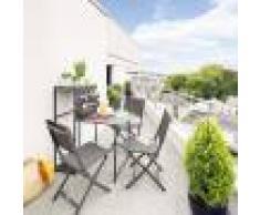 Hespéride Table de balcon repliable Fira Graphite Jardin
