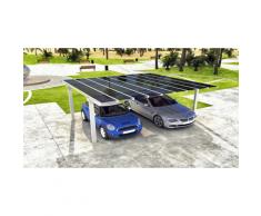 Carport Aluminium E-NAO Abri Voiture:Taille: L (m) 3 m x P (m) 4 m