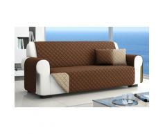 Housse de canapé 2 places matelassée et double-face de 230 x 173 cm