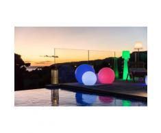 Boule ou cube lumineux sans fil LED multicolore Lumisky : Cube lumineux / 40 cm / 1