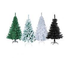 Sapin de Noel blanc vert vert enneigé ou noir : JJ242: sapin vert essentiel 210 cm