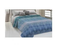 Couvre-lit 100% coton à design arc-en-ciel : 260 x 270 cm / Bleu