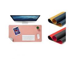 2x Tapis de bureau : rouge-noir et rose-argent