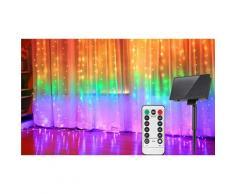 Guirlande solaire LED avec commande sans fil : 200 LED / Blanc froid / 1