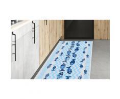Tapis de cuisine ou d entrée avec impression numérique et dos antidérapant : 50 x 200 cm / Marguerites