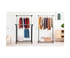 Portant pour vêtements avec roues : Modèle simple