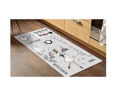 Tapis de cuisine décoratif : Tablier coloris fuschia / 45 x 75 cm