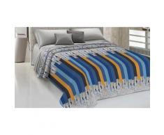 Couvre-lits 100% coton à motif crayons : 220 x 270 cm / Bleu