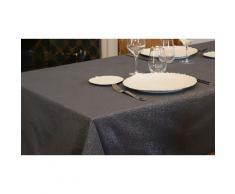Nappe polycoton fils lurex : 150 x 240 cm / Crème
