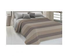 Couvre-lit Yarn en coton teint en fil : 220 x 290 cm / Beige