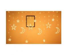 Guirlande lumineuse LED étoiles et lune: x1 / Chaud