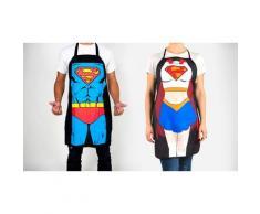 Tablier de cuisine superhéros : Superman + Superwoman / x2