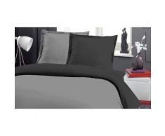 Pack complet linge de lit bicolore 4 ou 6 pièces : Framboise et pétale / 160 x 200