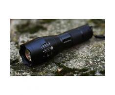 Lampe de poche à LED compacte avec zoom et 5 modes d éclairage