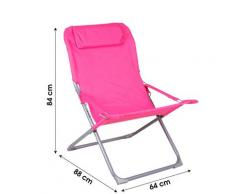 Chilienne 3 positions avec coussin fuchsia
