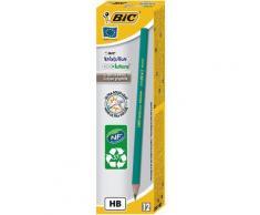 Crayon de papier Bic Evolution - mine HB corps hexagonal vert - paquet 12 unités