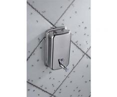 Distributeur de savon en inox brossé - capacité 1L - fermeture à clé - L10,5 x H20,5 x P11,5 cm