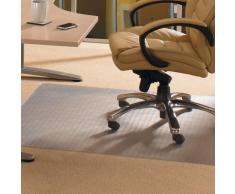 Tapis de chaise rectangulaire en PVC - protection moquette - transparent 120 x 150 cm