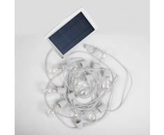 ALLEGRA-Guirlande lumineuse solaire & rechargeable d'extérieur 10 lumières LED Blanc New Garden