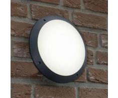MEDWAY-Applique ou Plafonnier d'extérieur LED Ø30cm Noir Brilliant