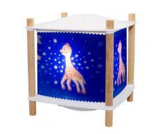LANTERNE 2.0 SOPHIE LA GIRAFE-Veilleuse Lanterne LED Connectée avec projection d'étoiles H18.5cm Bleu Trousselier