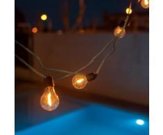 ALLEGRA-Guirlande lumineuse d'extérieur 10 lumières LED 5m raccordable Jute New Garden